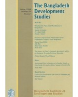 The Bangladesh Development Studies, Volume 38, Number 4, December 2015