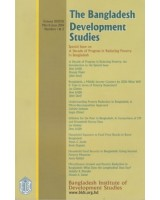 The Bangladesh Development Studies, Volume 37, No. 1 & 2, March-June 2014