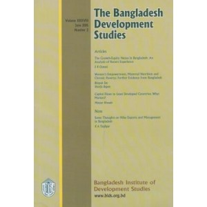 The Bangladesh Development Studies, Volume XXXVIII, Number 2, June 2015