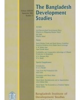 The Bangladesh Development Studies, Volume XXXVIII, Number 3, September 2015