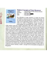 Modern Concepts on Water Resources