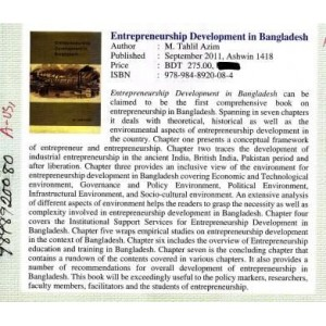 Entrepreneurship Development in Bangladesh